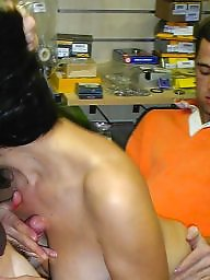 French, Shopping, Bicycle, French milf, Shop, Milf fuck