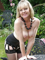 Mature blonde, British mature, British, Mature public, Mature stockings, Blond mature