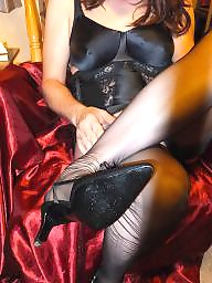 Vintage stockings, Nylon, Black stockings, Stockings, Nylons, Black amateur