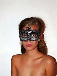 Mask, Nude in public, Posing, Masked