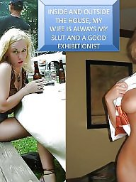 submissive blond captions Voyeurs wife