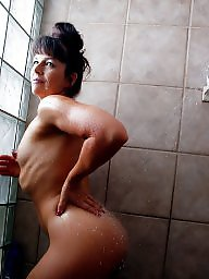 Shower, Hairy mature, Mature, Hairy