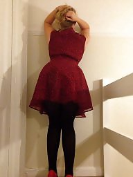 Red,milf, Red dresses, Red dress, Red amateur, Red milf, Stair
