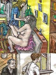 Mature cartoon, Drawings, Mature lesbian, Lesbian cartoon, Drawing