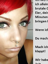 German caption, German captions, Bdsm captions, Femdom captions, Teen captions, Femdom caption