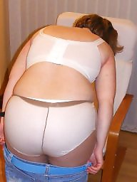Amateur ass, Big ass, Tight, Tights, White, Knickers