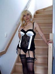 Mature stockings, Patricia
