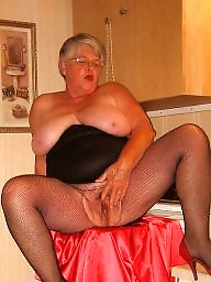 Granny, Bbw granny, Lingerie, Clothed, Grannies, Granny boobs