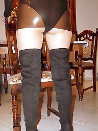 Amateur mature, Latex, Mature stockings, Boots, My wife, Mature pantyhose