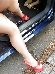 Upskirt, Outdoor, Heels, High heels