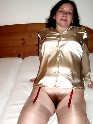 Vintage hairy, Blouse, Satin, Hairy wife