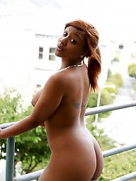 Public ebony, Public blacks, Public black, Stair, Nudity out, Out and about