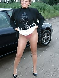 Polish milf, Posing, Polish, Outside