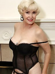 Mature stockings, Lingerie, Mature lingerie, Black mature