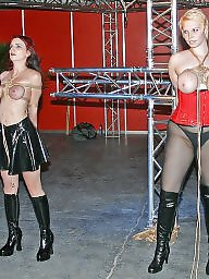 Public stage, Staged, On public, On stage, On a stage, Bdsm public
