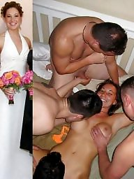 Brides, Naked, Bride, Dress, Young amateur, Old young