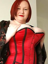 Bbw corset, Corset, Bbw big tits, Red stockings, Red
