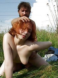 Old young, Public, Young teen, Redheads, Redhead, Skinny teen