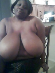 Ebony amateur, Huge boobs, Huge