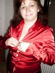 With hairy, With fun, Satin milfs, Satin blouse, Milf fun, Milf blouse