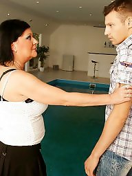 Mother, Young boy, Old, Mature creampie, Mature young, Boy