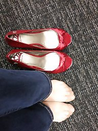 Red,milf, Red shoes, Red stockings, Red stocking, Red in stocking, Red heels