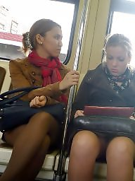 Pantyhose, Upskirt pantyhose, Stocking, Train, Upskirt, Stockings