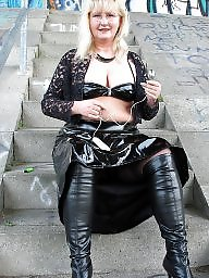 Pvc, Boots, Mature pvc, Amateur mom, Lady, Mature boots