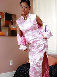 Satin, Silk, Dress, Asian, Dressed, Dressing
