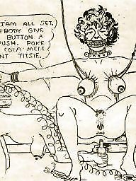 Vintage, Bdsm cartoons, Cartoons, Whore, Bdsm cartoon, Submissive