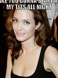 Celebrity captions, Caption, Captions, Angelina jolie, Celebrity caption