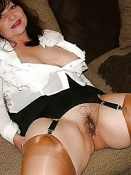 Mature nylon, Nylons, Wide open, Nylon mature, Nylon, Open