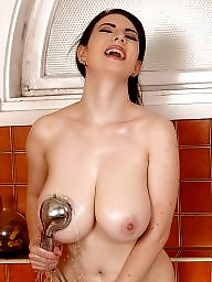 X boobs shower, Red dresses, Red dress, Red boobs, Red big, Shower boobs