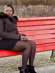 Ebony stockings, Black stockings, Ebony amateur
