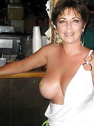 One tit, Milf public, Public tits