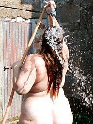 Bbw outdoor, Bbw shower, Outdoors, Outdoor bbw, Outdoor