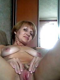 Russian mature, Hairy granny, Granny