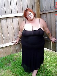 Mature bbw, Mature boobs