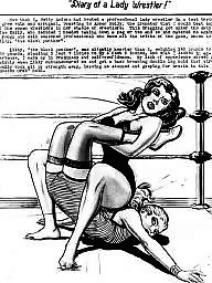 X cartoon, Wrestlers, Wrestler, Lady,ladies, Lady,ladys,ladies, Lady j