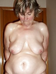 Mature bbw, Oil, Oiled