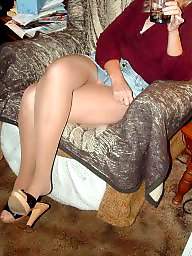 Mature upskirt, Mature pantyhose