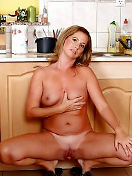 Kitchen, Mature kitchen, Nude, Mature nude, Nude mature