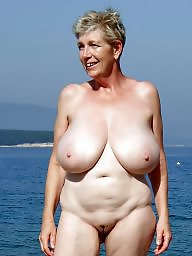 Mature beach, Granny beach, Granny, Granny boobs