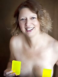 Self shot, Mature flashing, Amateur mature
