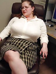Mature bbw, Secretary, Mature boobs, Athena