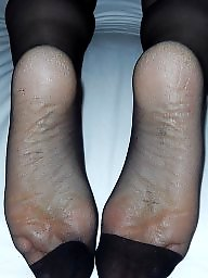Nylon feet, Amateur nylon, Stocking feet, Feet, Mature nylon, Amateur nylon feet