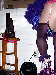 Upskirt sluts, Upskirt slut, Upskirt in stocking, Tgirl, Purple stocking, Purple