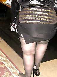 Heels, Granny stockings, Grannies, Nylon, Mature stockings, Granny