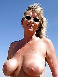 Granny, Mature, Beach, Granny beach, Big boobs, Mature beach