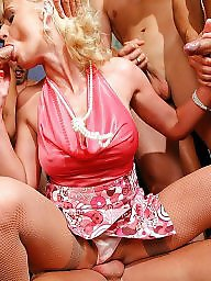 Mature fuck, Horny milf, Gang bang